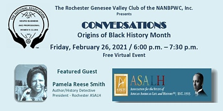 CONVERSATIONS Origins of Black History Month tickets