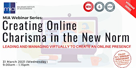 MIA Webinar Series: Creating Online Charisma in the New Norm tickets