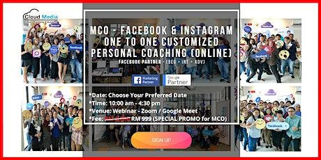 Facebook Partner - Facebook & Instagram (Online One to One Coaching) tickets