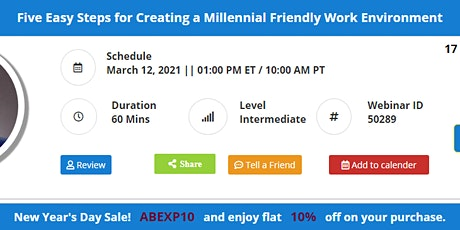 Five Easy Steps for Creating a Millennial Friendly Work Environment Tickets