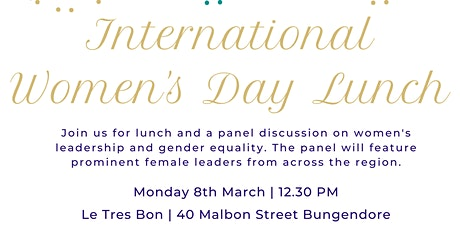 International Women's Day Lunch - Bungendore tickets