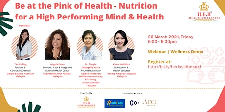Be at the Pink of Health - Nutrition for a High Performing Mind & Health tickets