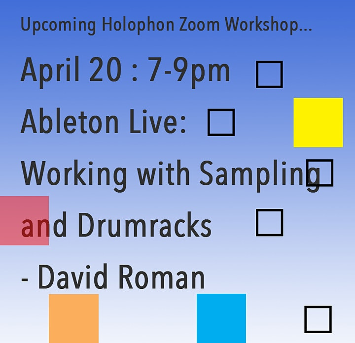 Ableton Live: Working with Sampling and Drumracks - David Roman image