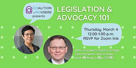 Legislation & Advocacy 101 tickets