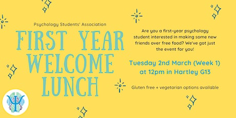 First Year Welcome Lunch tickets
