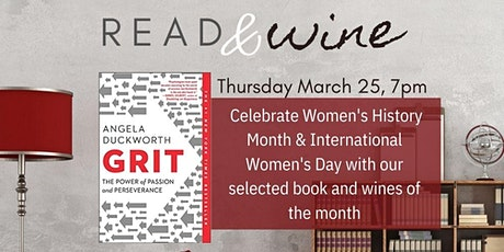March Read & Wine Club: Women's History Month & International Women's Day tickets