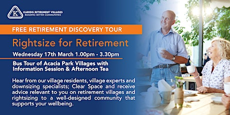 Retirement Discovery Tour tickets