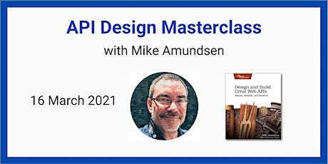 API Design Masterclass with Mike Amundsen tickets