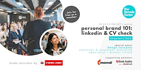 personal brand 101: linkedin & CV check | the female factor masterclass tickets