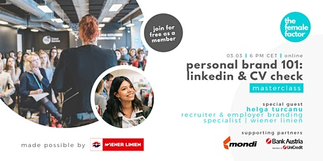 personal brand 101: linkedin & CV check | the female factor masterclass tickets