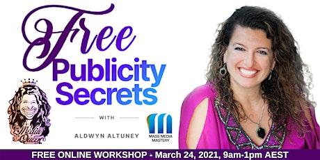 Free Publicity Secrets half-day online workshop tickets