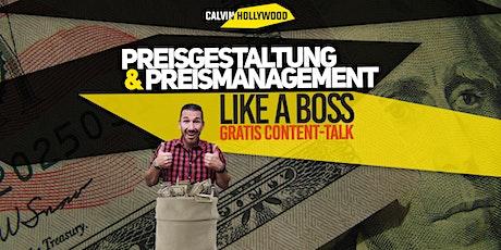 Preisgestaltung & Preismanagement - Online Live Event mit Content Talk tickets
