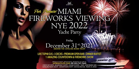 Miami Fireworks Viewing Pier Pressure New Year's Eve Yacht Party 2022 tickets