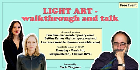 Light Art - an exhibition visit and conversation Tickets