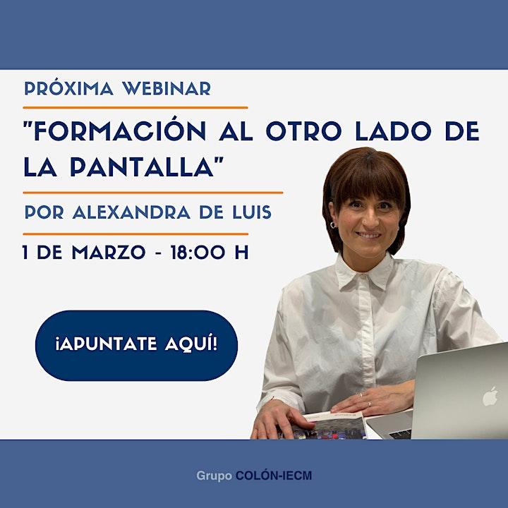 """Webinar  """"Formación al otro lado de la pantalla"""" , por Alexandra de Luis image"""