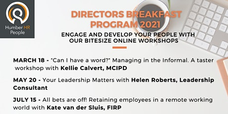 2021 Directors Breakfasts - Manage, engage and develop your people entradas