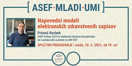 Primož Kocbek: Napovedni modeli elektronskih zdravstvenih zapisov tickets