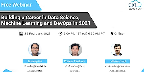 Free Webinar on Building a Career in Data Science, ML , and DevOps in 2021 tickets