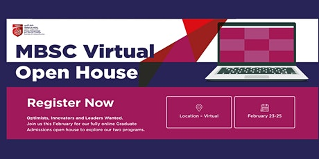 MBSC Virtual Open House:   February 23-25, 2021 tickets