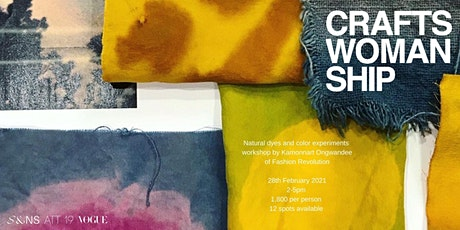 Natural Dyes and color experiments workshop with Kamonnart Ongwandee tickets