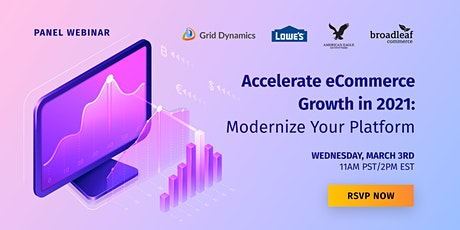 Accelerate eCommerce Growth in 2021: Modernize Your Platform biglietti
