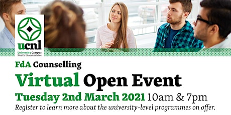 UCNL Counselling Virtual Open Event tickets