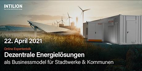 Energielösungen als Businessmodell für Stadtwerke - INTILION Expertenforum Tickets