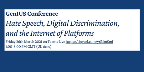 Hate Speech, Digital Discrimination, and the Internet of Platforms Tickets