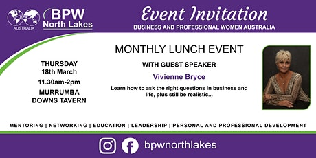 BPW North Lakes March Lunch tickets