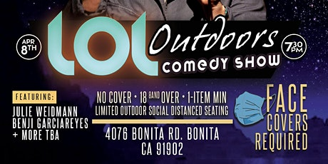 LOL Outdoors Comedy at Andale ! 4/8 at 7:25 pm tickets