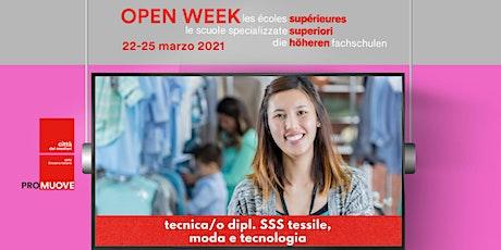 Open Week: Scuola Specializzata Superiore abbigliamento e design della moda biglietti