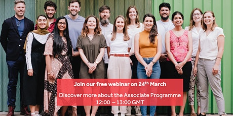 Discover more about the Associate Programme - Apply for October 2021 tickets