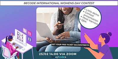 BeCode GENT demo tribute page | International women's day contest