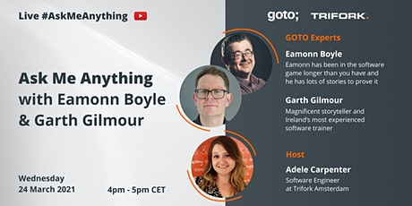 Live Ask Me Anything with Eamonn Boyle & Garth Gilmour bilhetes