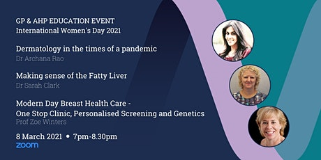 GP & AHP Educational Lecture Via Zoom - International Women's Day tickets