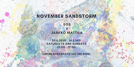 November Sandstorm tickets