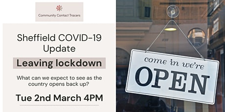 Sheffield COVID-19 Update Session - Leaving Lockdown tickets