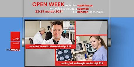 Open Week SSS: la Scuola Specializzata Superiore medico-tecnica di Locarno biglietti