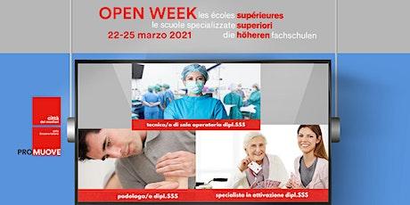 Open Week SSS: la Scuola Specializzata Superiore medico-tecnica di Lugano biglietti