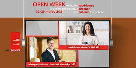 Open Week SSS: la Scuola Specializzata Superiore alberghiera e del turismo biglietti