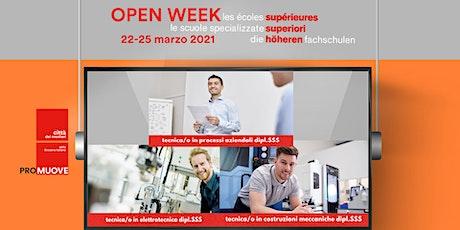 Open Week SSS: la Scuola Specializzata Superiore tecnica di Bellinzona biglietti