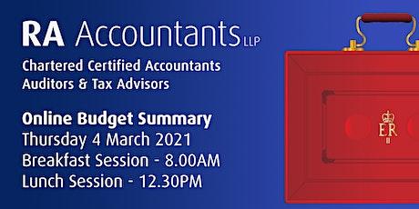 RA Accountants LLP - Budget Summary 2021 - Breakfast Session tickets
