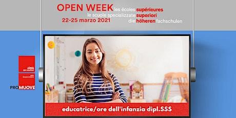 Open Week SSS: la Scuola Specializzata Superiore educatori dell'infanzia biglietti