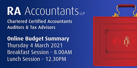 RA Accountants LLP - Budget Summary 2021 - Lunch Session tickets