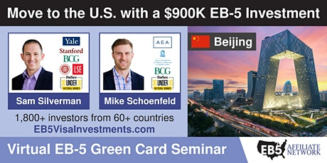 U.S. Green Card Virtual Seminar – Beijing, China tickets