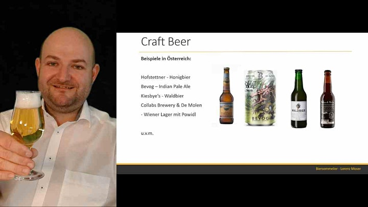 Bierseminar und Verkostung mit Biersommelier Lorenz Moser: Bild