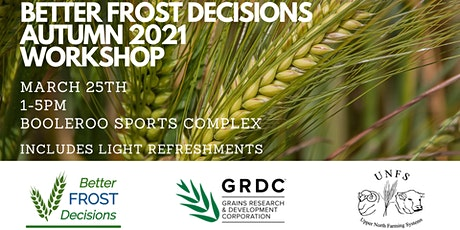 Better Frost Decisions - Autumn 2021 Workshop tickets