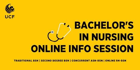 Bachelor's in Nursing Online Information Session, BSN degree (via ZOOM) tickets