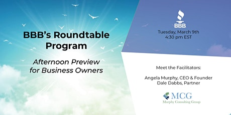 BBB's Roundtable Program – Afternoon Preview for Business Owners tickets