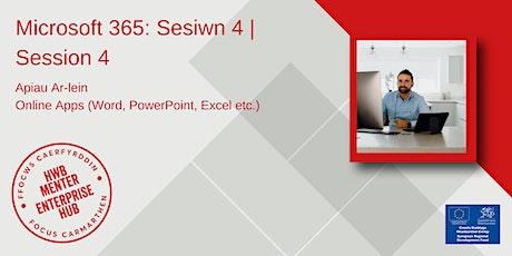 Microsoft 365: Apiau Ar-lein | Microsoft 365: Online Apps biglietti